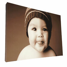 Your Picture Image Photo On Personalised Box Canvas Size 32x20 inch / 20x32 inch