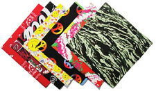 New 100% Cotton Women's Head Wrap Scarf Flag Leaf Star Peace Sign Star G120707