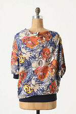Anthropologie Autumn Leaves Top By Sparrow