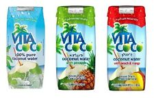 Vita Coco 100% Pure Coconut Water- 3 Options - 11.1 oz Containers (Pack of 12)