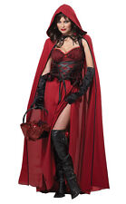 Dark Red Riding Hood Adult Costume Gothic Storybook