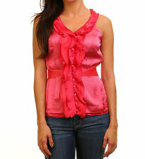 Trendy Women Blouse Top in Pink Evening or Office Work Attire Shirt