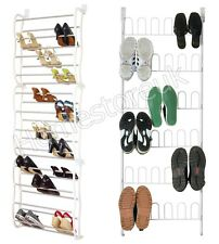OVER THE DOOR HANGING SHOE HOOK SHELF RACK HOLDER METAL STAND STORAGE ORGANISER