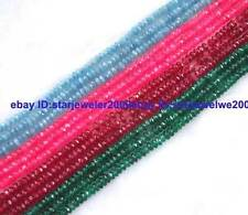 2x4mm Jade Rondelle Faceted Gemstone Beads 15""
