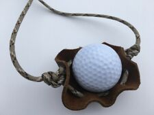Golf Ball Thrower Paracord & Leather Shepherd Sling made by David The Shepherd