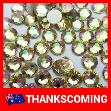 Luminous Green (001 LUMG) Swarovski Crystal 2028 / 2058 Rhinestones Flat Back