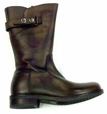 New Geox Sissy, Girls Fashion Boots, Brown Leather