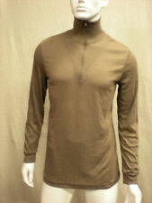 THERMAL UNDERSHIRT. Lightweight Cold weather *USGI* 100% Polyester, Browns,Solid
