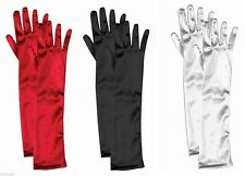Long Satin Elbow Theatrical Formal Gloves Adult Costume Accessory NEW
