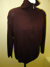 Alison Sheri Sweater 2 Color Choices-Black or Brown Zip Front Size S,M,L,XL-NWT