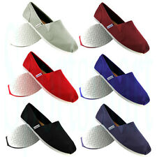 Unsung Hero Canvas PlimSolls Espadrilles Slip On Pumps Trainers Mens Size 6-11
