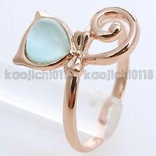1CT Blue CZ New Arrival 18K Gold Plated Fashion Cute Ring 96483 Free Shipping