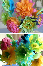 Hopefish Crafts: Make Your Own Giant Tissue Paper Flowers with a Kit for 6 or 30