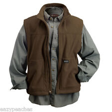 Dri Duck NEW Mens Size S-4XL Full Zip Softshell Flex Fleece Vest Jacket Jumper