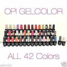 OPI GelColor PICK in ALL 42 COLOURS LED UV Light Soak Off NEW ICONIC SHADES *P1