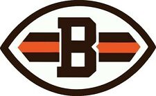 NFL CLEVELAND BROWNS vinyl graphic 7 year outside vinyl decal sticker 3 sizes