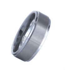 Tungsten Carbide Step Edges Brushed 8mm  Ring