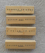 STAMPIN' UP Simple Sayings Stamps Friend Get Well Think of You Celebrate U Pick