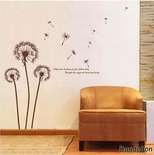 Dendelion Vinyl Mural Wall paper stickers Art Decal