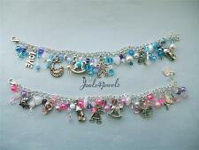 Pretty Baby Girl/Boy Themed Charm Bracelet-This is for a adult