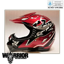 Red Motocross Helmet, Kids, Child, Youth, S, M, L, XL, Aust Std, dirt bike, quad