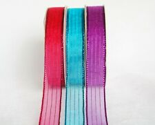3yds/Roll ~~16mm Christmas Metallic Organza Ribbon 3 Colours U PICK