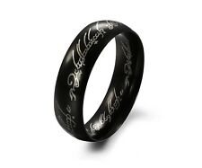 mens Titanium Black LORD OF THE RINGS FREE SHIP FROM UK Christmas gift for love