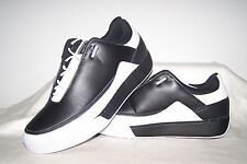 Men's NEW Reebok Legend Black Leather Shoes with White Trim