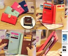 Korean cute style Multi propose wallet case for iphone 5,4S,Samsung Galaxy S3,S2
