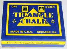Triangle Chalk - One Dozen - 12 pieces - Pool Cue Billiards - 3 Color Choices