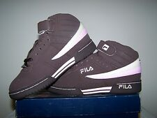 Women's NEW size Fila F-13 FB/LEA Brown Shoes with Off White and Pink Trim