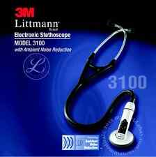 3M LITTMANN 3100 ELECTRONIC STETHOSCOPE WITH AMBIENT NOISE REDUCTION BRAND NEW