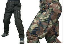 k mens waterproof insulated lining winter cargo army camo work trousers pants