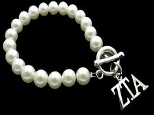 ZETA TAU ALPHA  Sorority Greek Synthetic Pearl Toggle Bracelet Jewelry #FBR2447