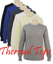 MENS THERMAL TOP LONG JOHN UNDERWEAR PAJAMAS ALL COLORS AND SIZES : S -6X