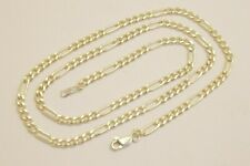 "Taxco Mexican 925 Sterling Silver Figaro Chain Necklace. 16""- 28"", 10-18 grams"