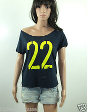 NWT HOLLISTER Women's Easy Fit T Shirt Tourmaline Off Shoulder By Abercrombie