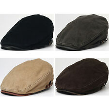 New Men's Cotton Basic Gatsby-Look Ivy Cap Cabbie, Ascot, Newsboy Beret Golf Hat