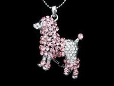 Clearance Sale Poodle Dog Necklace or Poodle Crystal Ring. Choose style