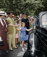 Shirley Temple color photo movie star child actress fans Washington DC FDR-24775