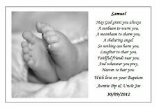 ♥ Personalised Christening Baptism Poem gift - Unique rememberance of their day