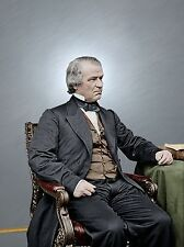 President Andrew Johnson Impeach Color Tinted photo Civil War 4228167897