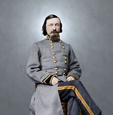 General Pickett Confederate Gettysburg Color Tinted Photo Civil War 00682