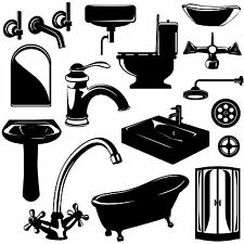 Bathroom Suite Silhouette Wall Art Sticker Present Bog Flogger Shop Showroom