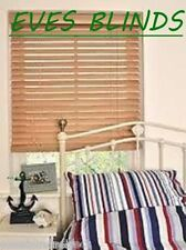 PREMIUM MADE TO MEASURE BLIND  Wood BEECH Wooden Venetian Blinds Quality 50mm