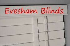 PREMIUM MADE TO MEASURE WOODEN VENETIAN BLIND WHITE WOOD 50MM WITH TAPES