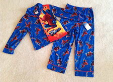 Boys Spiderman Flannel Pajamas Size 6 8 10 New With Tags