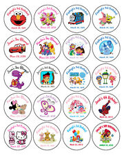 "20 ROUND Personalized BIRTHDAY PARTY 2"" LABELS - Dora, Jake,Thomas & more!"