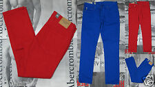 NWT Abercrombie & Fitch A&F Men 's Blue & Red Skinny Jeans By Hollister