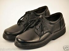 Men's Black Restaurant Work Shoes Genuine Leather Slip & Oil Resistant Wide 216